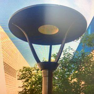 Luminária Solar Pública em alumínio