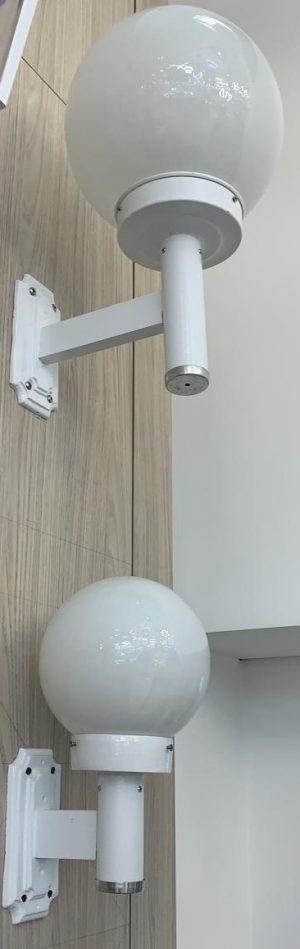 Arandela de parede com globo